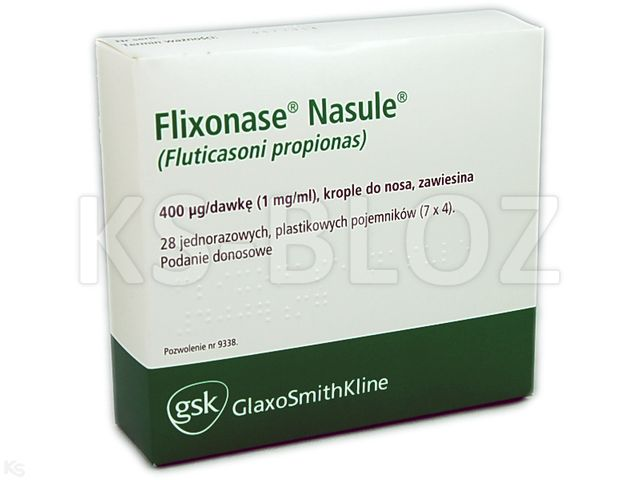 Flixonase Nasule interakcje ulotka krople do nosa, zawiesina 0,4 mg/daw. 28 poj.