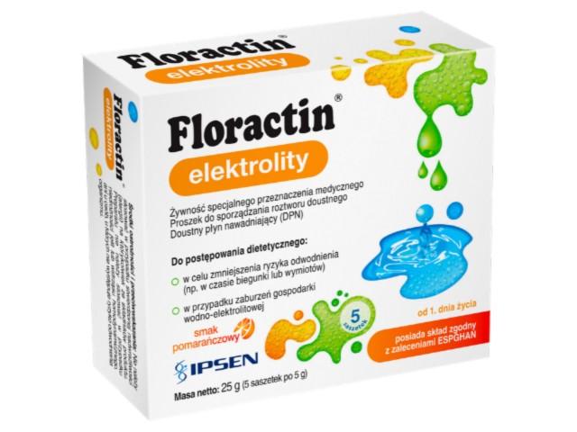 Floractin elektrolity interakcje ulotka proszek do sporządzania roztworu doustnego  5 sasz. po 5 g