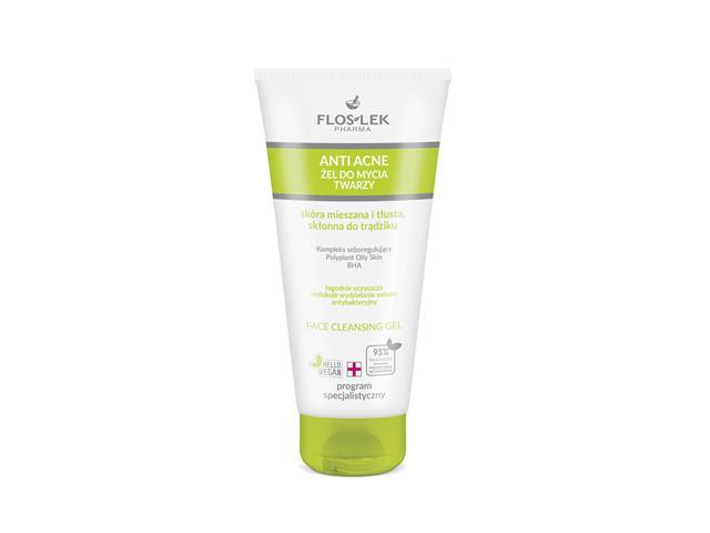 FLOS-LEK ANTI ACNE Antybakteryjny Żel do mycia twarzy interakcje ulotka   200 ml