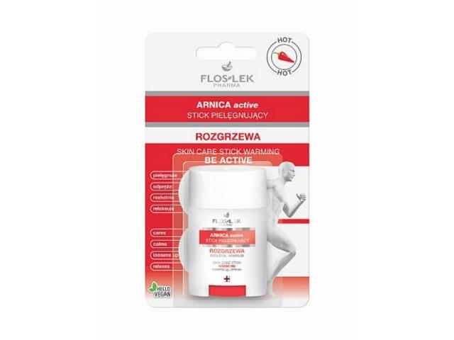 FLOS-LEK ARNICA ACTIVE Stick pielęgnujący rozgrzewa interakcje ulotka   16 g