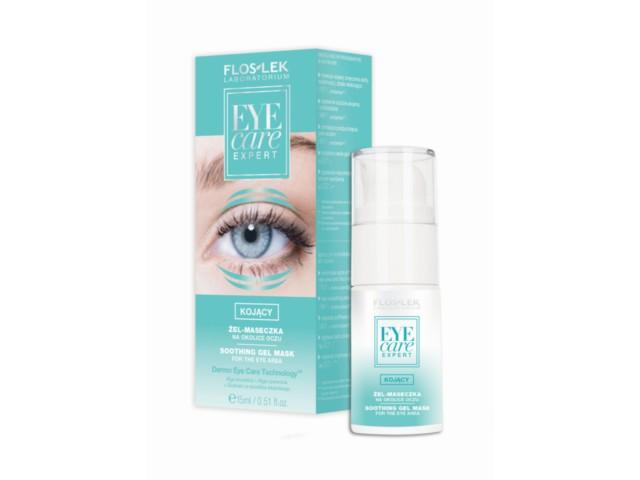 FLOS-LEK EYE CARE EXPERT Kojący Żel-maseczka na okolice oczu interakcje ulotka   15 ml
