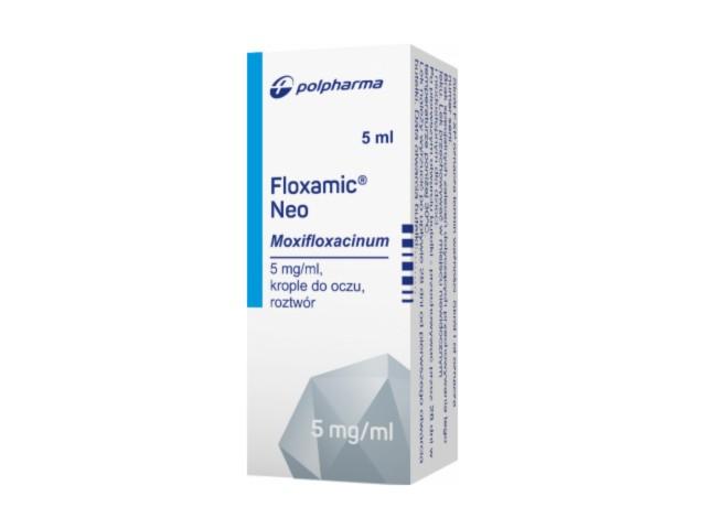 Floxamic Neo interakcje ulotka krople do oczu, roztwór 5 mg/ml 1 but. po 5 ml