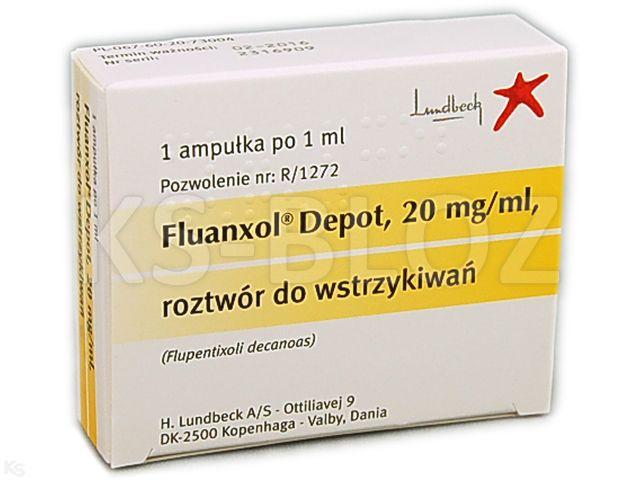 Fluanxol Depot interakcje ulotka roztwór do wstrzykiwań 0,02 g/ml 1 amp. po 1 ml