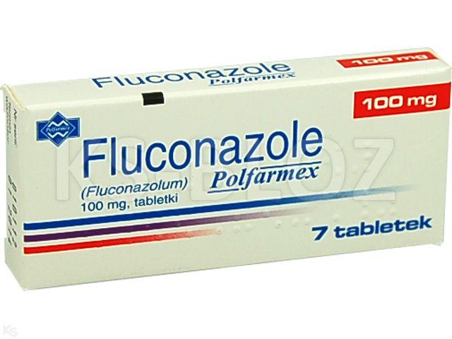 Fluconazole Polfarmex interakcje ulotka tabletki 0,1 g 7 tabl.