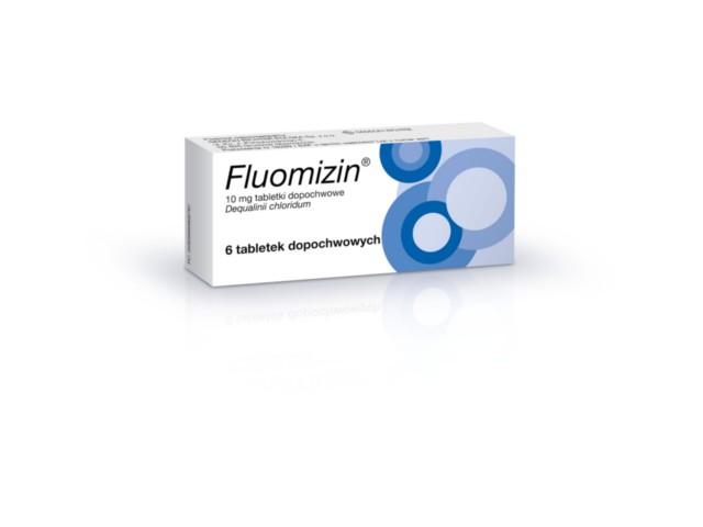 Fluomizin interakcje ulotka tabletki dopochwowe 0,01 g 6 tabl.