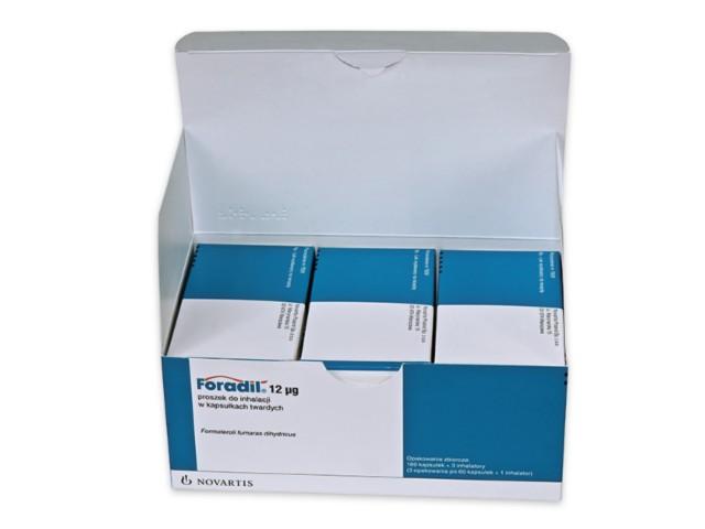 Foradil interakcje ulotka proszek do inhalacji w kapsułkach twardych 0,012 mg/daw. inh. 180 kaps.
