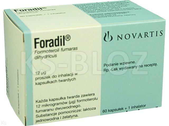 Foradil interakcje ulotka proszek do inhalacji w kapsułkach twardych 0,012 mg/daw. inh. 60 kaps.