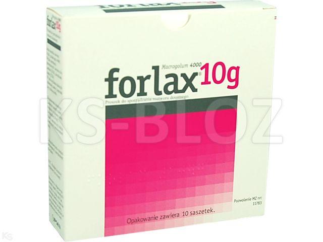 Forlax 10 g interakcje ulotka proszek do sporządzania roztworu doustnego 10 g 10 sasz.