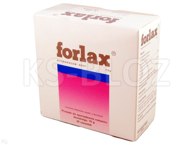 Forlax interakcje ulotka proszek do sporządzania roztworu doustnego 10 g 20 sasz.