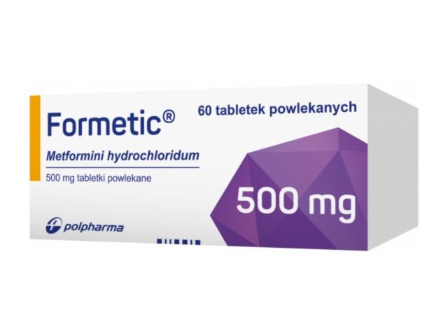Formetic interakcje ulotka tabletki powlekane 0,5 g 60 tabl.