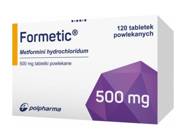 Formetic interakcje ulotka tabletki powlekane 0,5 g 120 tabl.