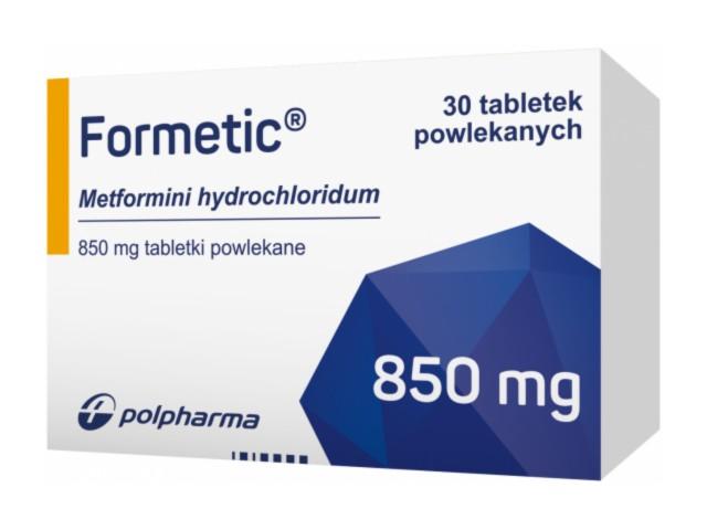 Formetic interakcje ulotka tabletki powlekane 0,85 g 30 tabl.