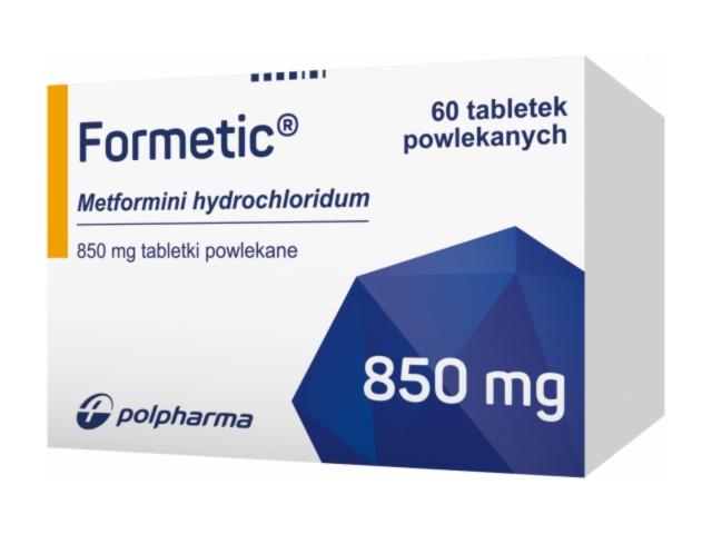 Formetic interakcje ulotka tabletki powlekane 0,85 g 60 tabl.