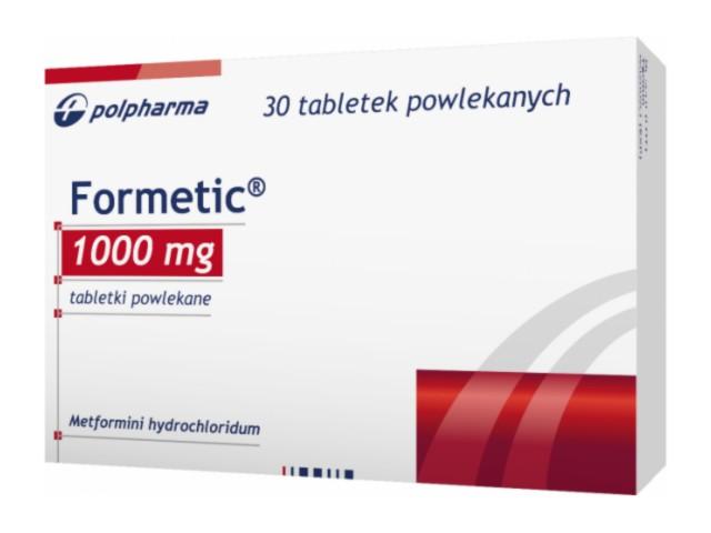 Formetic interakcje ulotka tabletki powlekane 1 g 30 tabl.