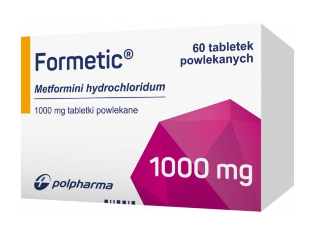 Formetic interakcje ulotka tabletki powlekane 1 g 60 tabl.