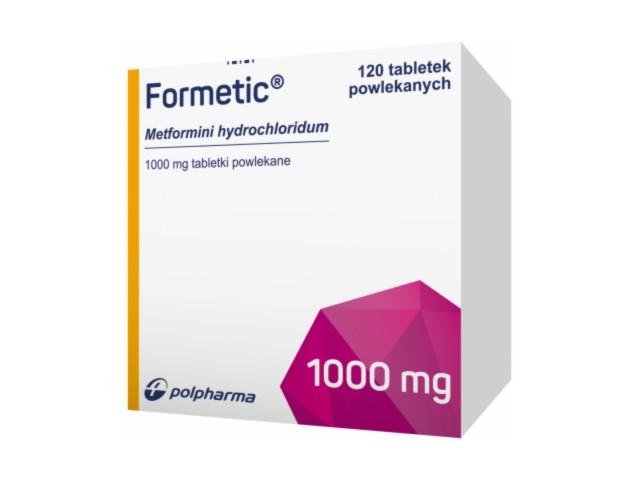 Formetic interakcje ulotka tabletki powlekane 1 g 120 tabl.