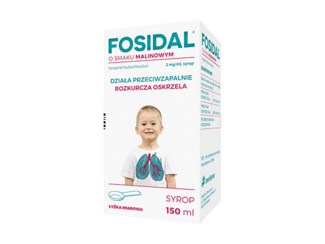 Fosidal o smaku malinowym interakcje ulotka syrop 2 mg/ml 150 ml