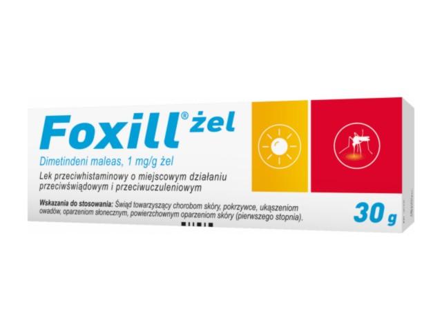 Foxill interakcje ulotka żel 1 mg/g 1 tub. po 30 g