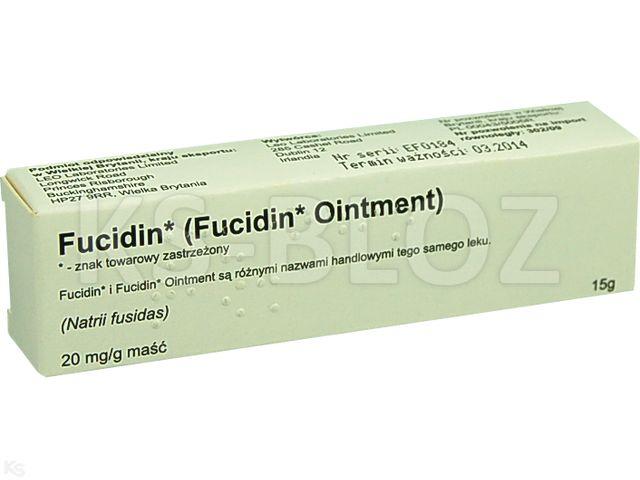 Fucidin interakcje ulotka maść 0,02 g/g 15 g