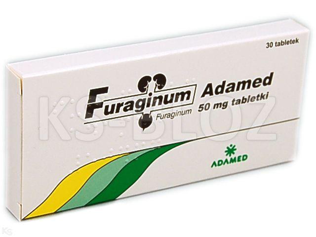 Furaginum Adamed interakcje ulotka tabletki 0,05 g 30 tabl.