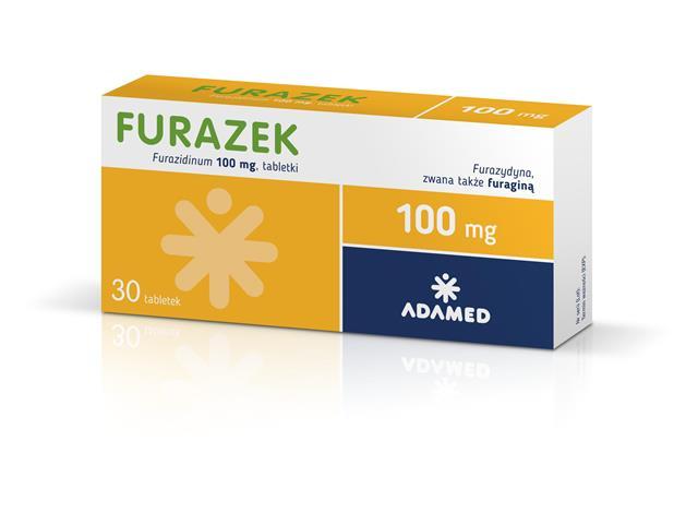 Furazek interakcje ulotka tabletki 0,1 g 30 tabl.