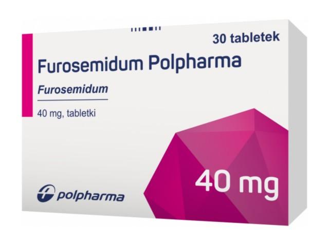 Furosemidum Polpharma interakcje ulotka tabletki 0,04 g 30 tabl.