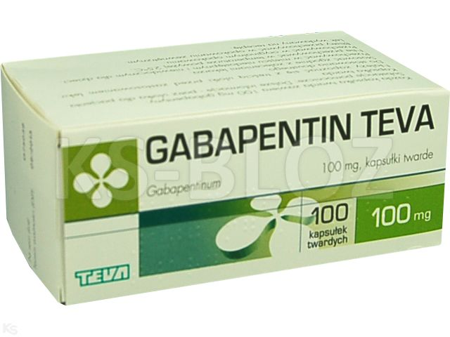 Gabapentin Teva interakcje ulotka kapsułki twarde 0,1 g 100 kaps.