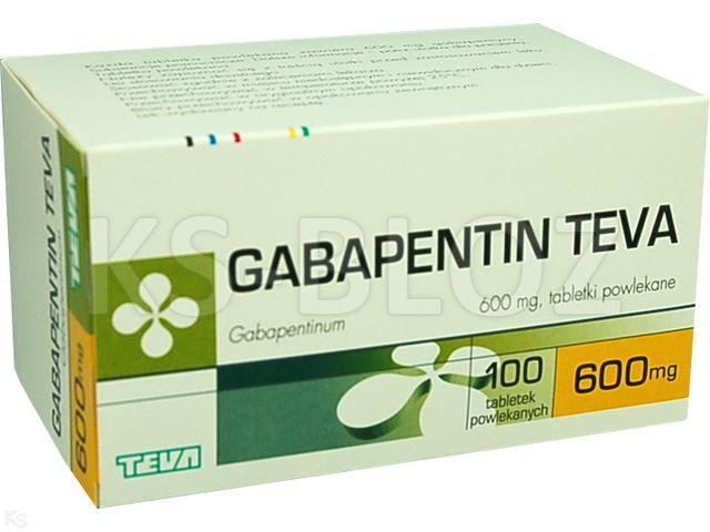 Gabapentin Teva interakcje ulotka tabletki powlekane 0,6 g 100 tabl.