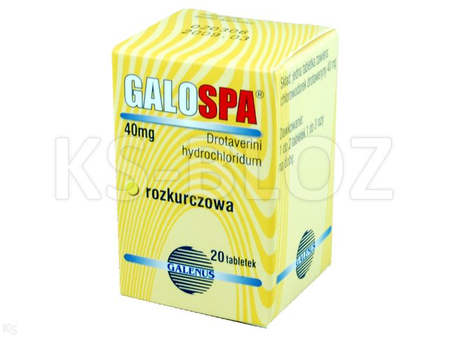 Galospa interakcje ulotka tabletki 0,04 g 20 tabl.   blister