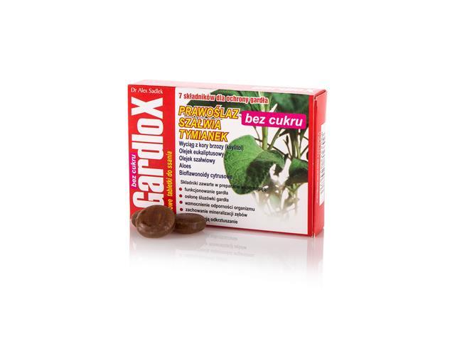 Gardlox Tabletki zioł. b/cukru interakcje ulotka tabletki do ssania  16 tabl.