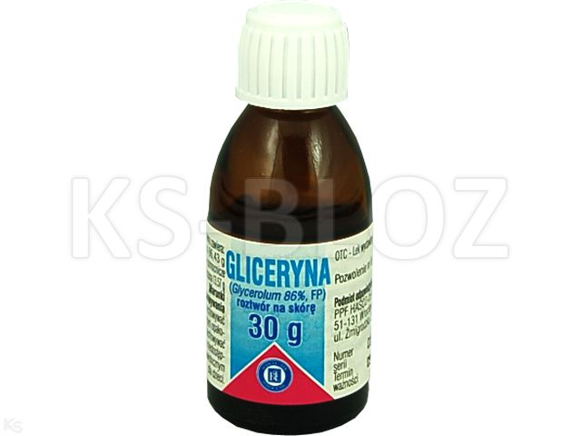 Gliceryna 86% interakcje ulotka płyn do stosowania na skórę  30 g