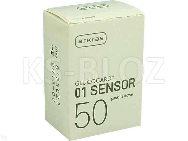 Glucocard 01 sensor interakcje ulotka test paskowy  50 pask.