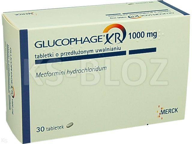 Glucophage XR interakcje ulotka tabletki o przedłużonym uwalnianiu 1 g 30 tabl.