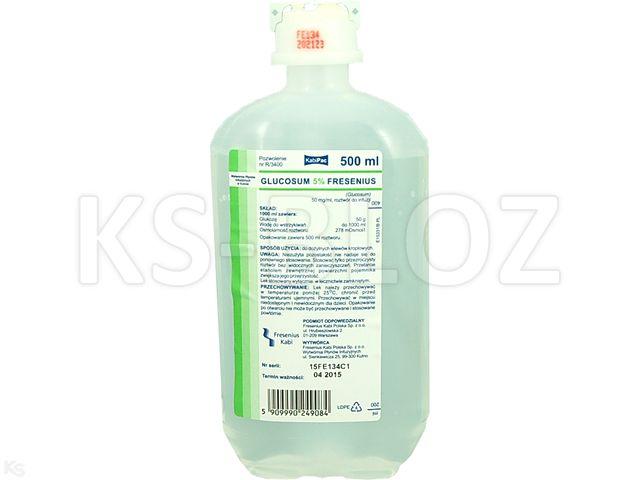 Glucosum  5% Fresenius interakcje ulotka roztwór do infuzji 0,05 g/ml 500 ml