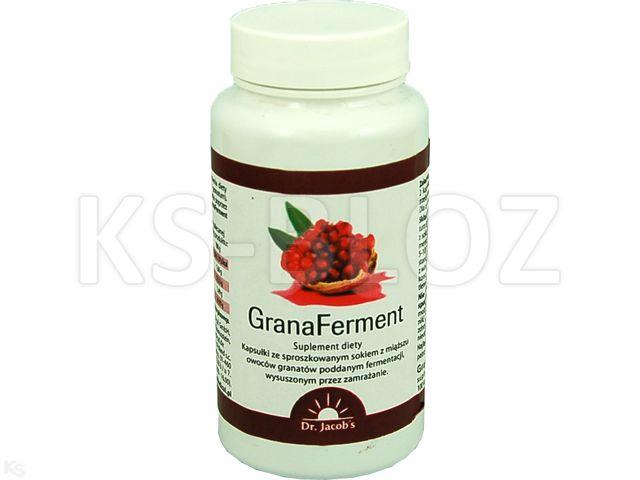 GranaFerment interakcje ulotka kapsułki  100 kaps.