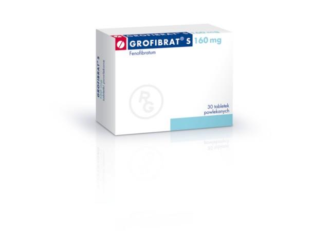 Grofibrat S interakcje ulotka tabletki powlekane 0,16 g 30 tabl.