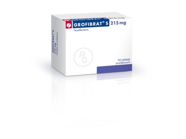 Grofibrat S interakcje ulotka tabletki powlekane 0,215 g 30 tabl.