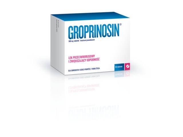 Groprinosin interakcje ulotka tabletki 0,5 g 50 tabl.