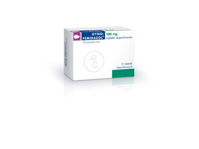 Gyno-Femidazol interakcje ulotka tabletki dopochwowe 0,1 g 15 tabl.