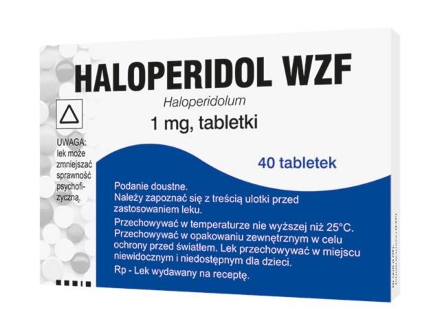 Haloperidol WZF interakcje ulotka tabletki 1 mg 40 tabl.