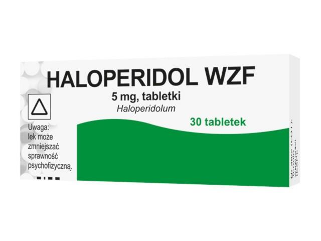 Haloperidol WZF interakcje ulotka tabletki 5 mg 30 tabl.