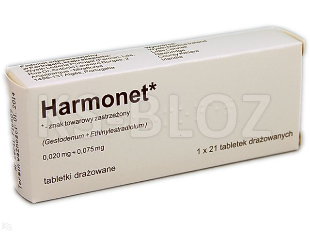 Harmonet interakcje ulotka tabletki powlekane 0,02mg+0,075mg 21 tabl.