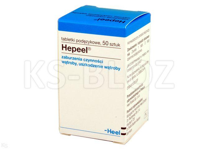 HEEL Hepeel na wątrobę interakcje ulotka tabletki podjęzykowe  50 tabl.