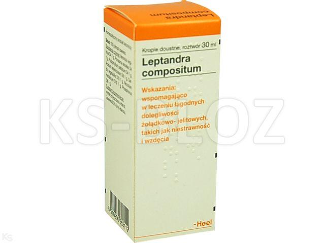 HEEL Leptandra comp. interakcje ulotka krople doustne, roztwór  30 ml