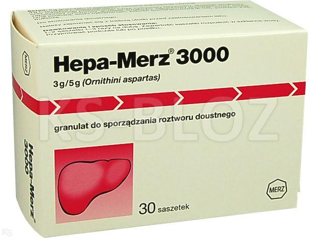 Hepa-Merz 3000 interakcje ulotka granulat do sporządzania roztworu doustnego 3 g/5g gran. 30 sasz. po 5 g