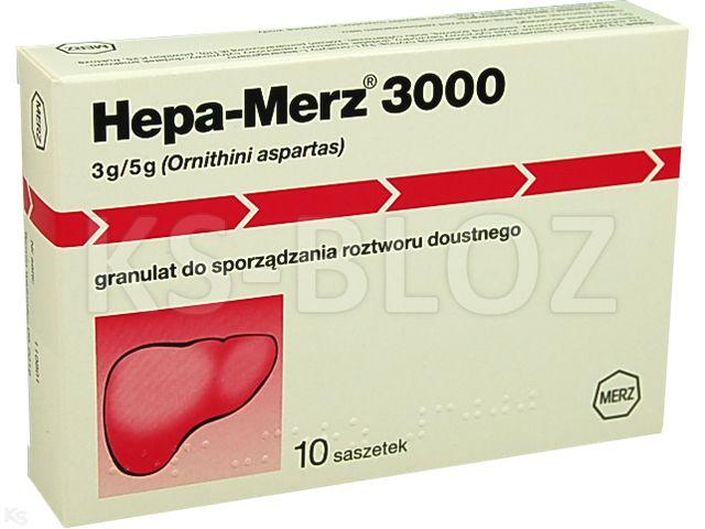 Hepa-Merz 3000 interakcje ulotka granulat do sporządzania roztworu doustnego 3 g/5g gran. 10 sasz. po 5 g