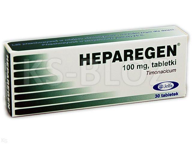Heparegen interakcje ulotka tabletki 0,1 g 30 tabl.