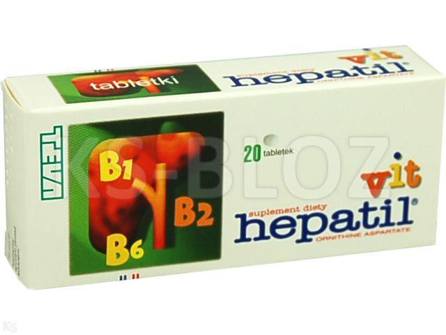 Hepatil - Vit interakcje ulotka tabletki 0,15 g 20 tabl.