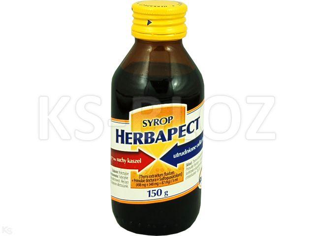 Herbapect interakcje ulotka syrop (0,498g+0,348g+0,087g)/5ml 125 ml