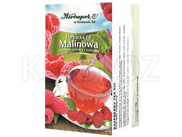 Herbata MALINOWA interakcje ulotka herbata 3 g 20 sasz.